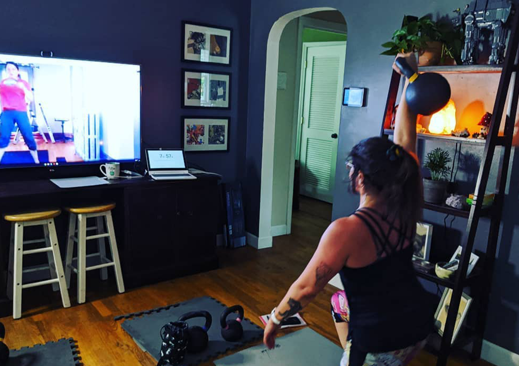 Virtual at home physical fitness training